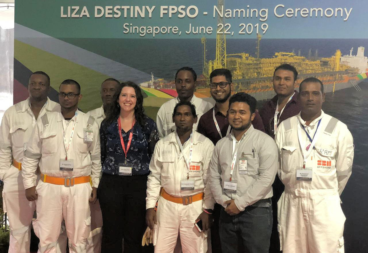 Over 1,000 Guyanese worked on projects leading up to 1st floating
