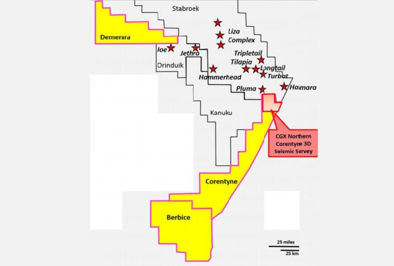 CGX hires PGS for Corentyne survey, defers rig contract