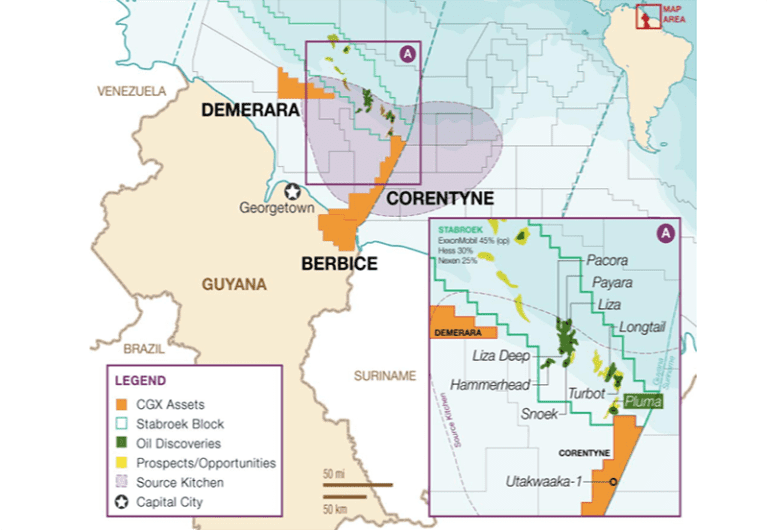 CGX, Frontera looking to identify 'higher quality ranked list of prospects' for Guyana drill campaign