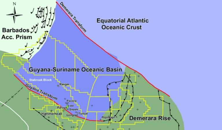 Ancient river systems that formed 1000m deep canyon now delivering oil offshore Guyana