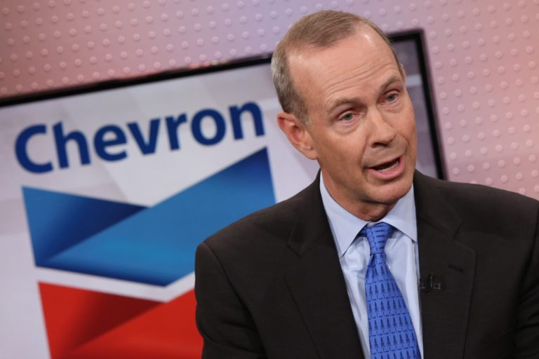 """Chevron's CEO calls for """"action over pledges"""" to deliver on low carbon goals"""