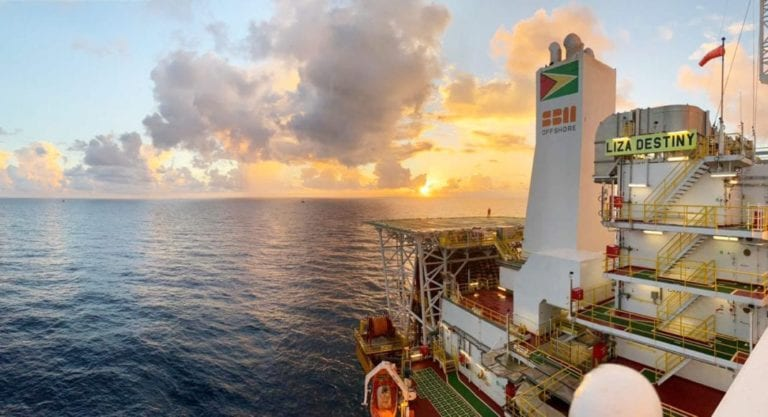Close to 100 percent of gas now being reinjected on Liza Destiny FPSO