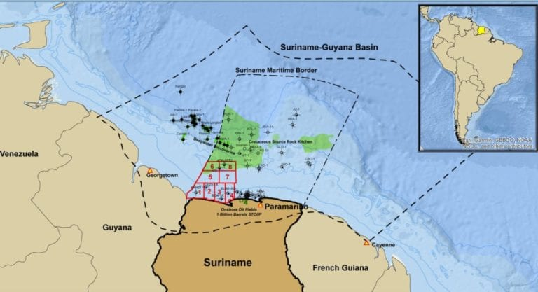 Suriname bid round closes with interest shown in less than 50% of blocks offered