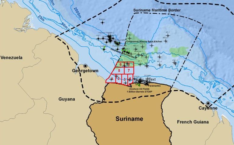 Chevron and Qatar Petroleum consortium win bids for Suriname oil blocks