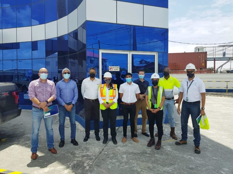 High-level Suriname delegation visits UK-based EnerMech at Guyana Shore Base