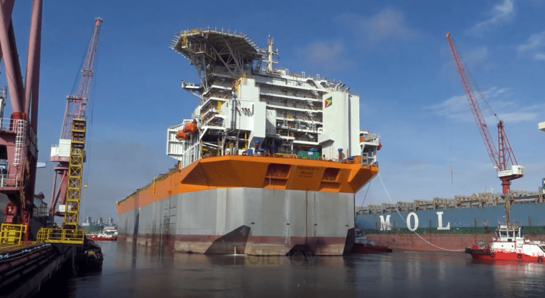 Guyana's 3rd oil production vessel enters dry dock in Singapore