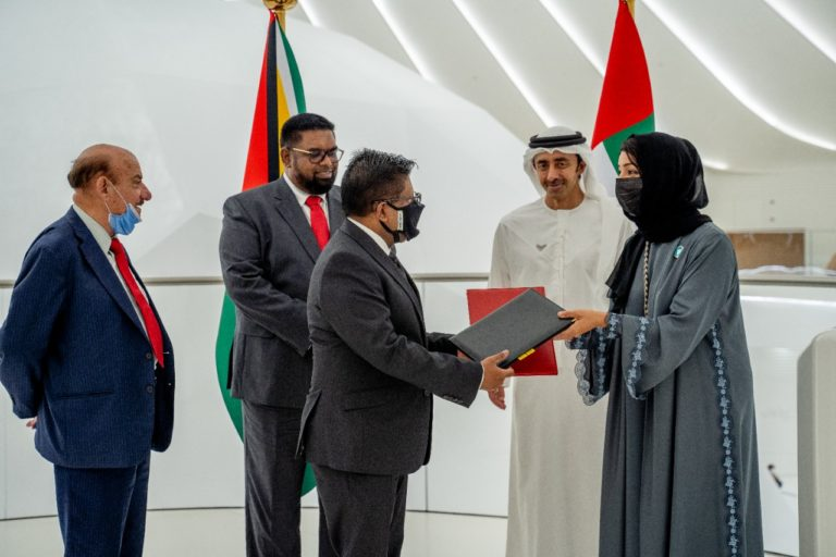 Guyana, UAE ink MoU to advance technical assistance, cooperation